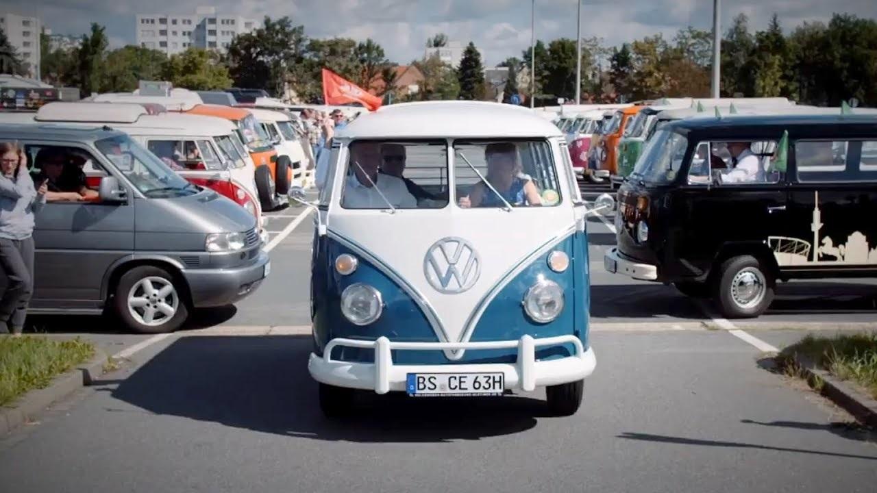 Wolfsburg to Hannover: VW camper convoy